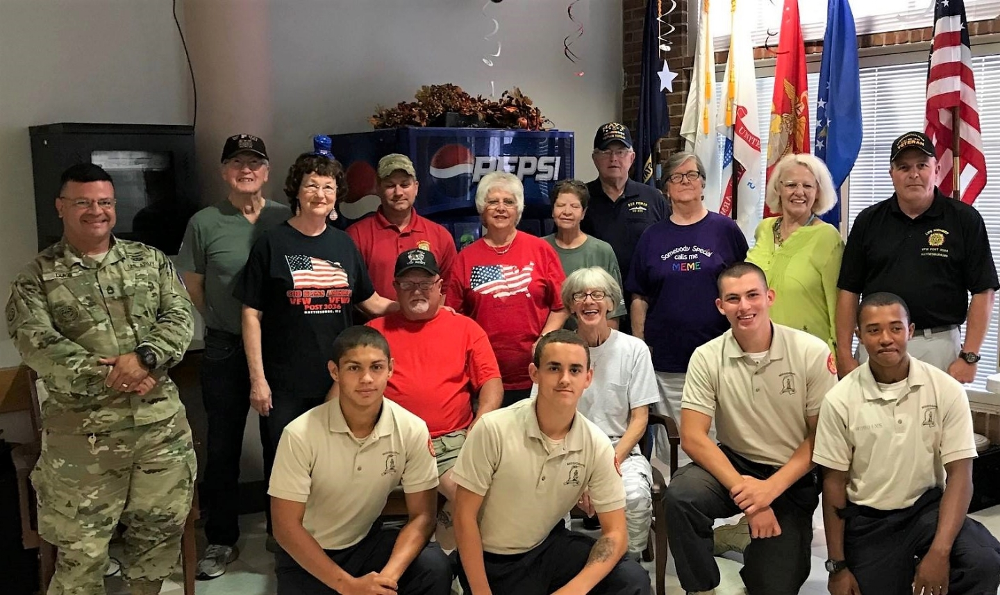 Once a month VFW Post 3036 goes and plays Bingo and provides snacks and refreshments to the Veterans that are living at the State Veterans Home located in Collins. Mississippi.